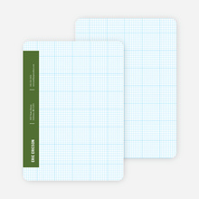 Stationery Grid Modern Note Cards - Commando