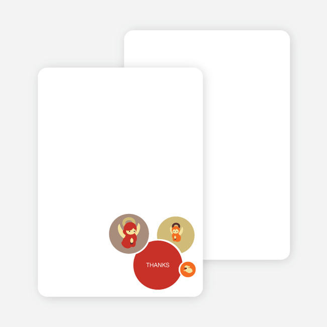 Stationery: 'Hark, the Angels Sing' cards. - Red