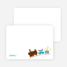 Stationery: 'Little Engine that Would and Could' cards. - Chocolate Brown