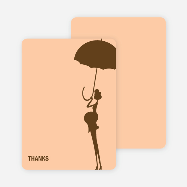 Stationery: 'Modern Maternity Shower' cards. - Cocoa