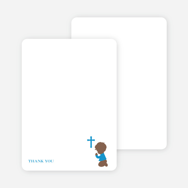 Stationery: 'Prayers Answered' cards. - Blue
