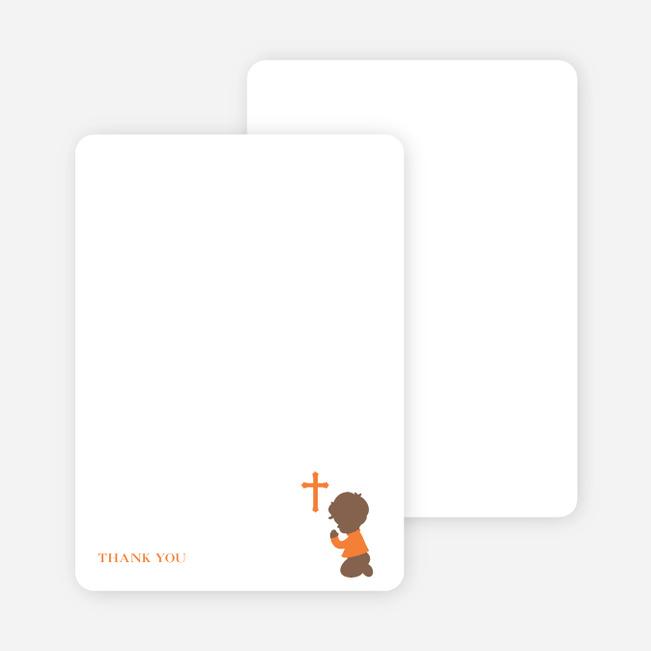 Stationery: 'Prayers Answered' cards. - Orange