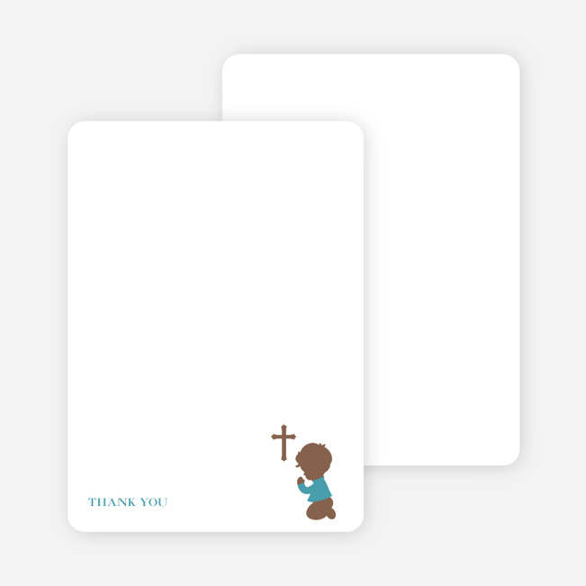 Stationery: 'Prayers Answered' cards. - Greenish Blue