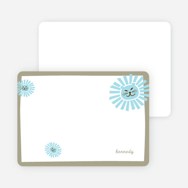 Stationery: 'Your Lion King' cards. - Taupe