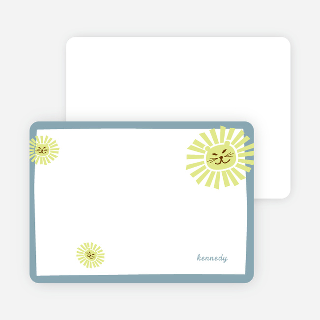 Stationery: 'Your Lion King' cards. - Slate Blue