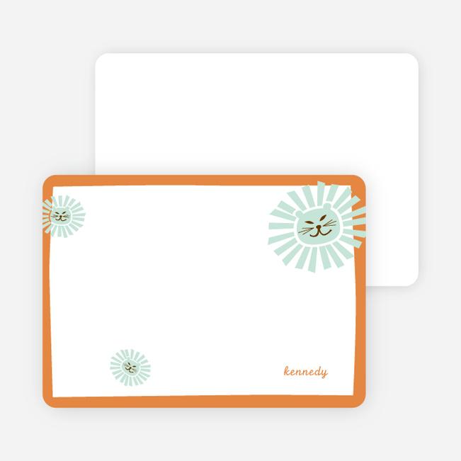 Stationery: 'Your Lion King' cards. - Pumpkin Orange