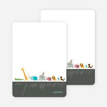 Stationery: 'Zoo Parade' cards. - Slate Grey