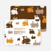 Thomas Loves the Train: Birthday Party Invitation - Orange
