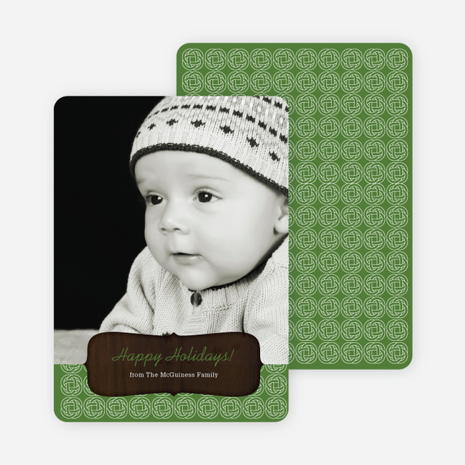 Wood Carving Holiday Cards - Green