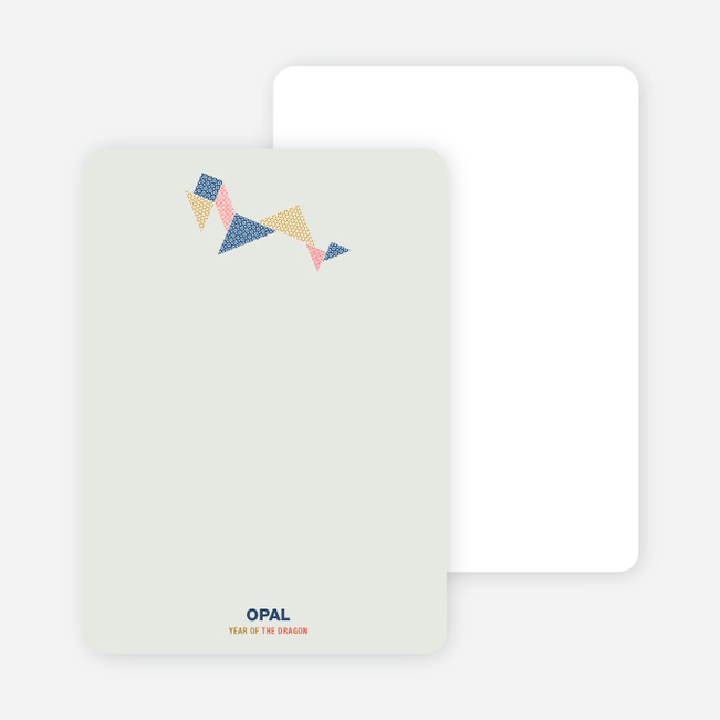 Year of the Dragon Tangram Themed Personal Stationery - Multi