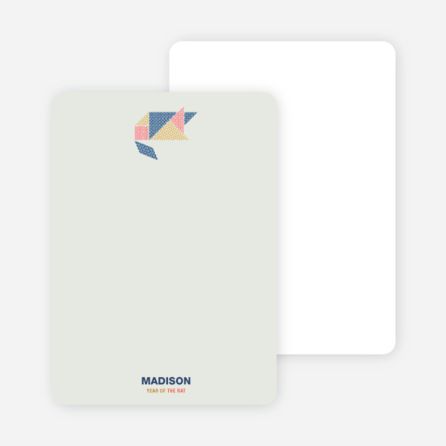 Year of the Ra Tangram Themed Note Cards - Multi