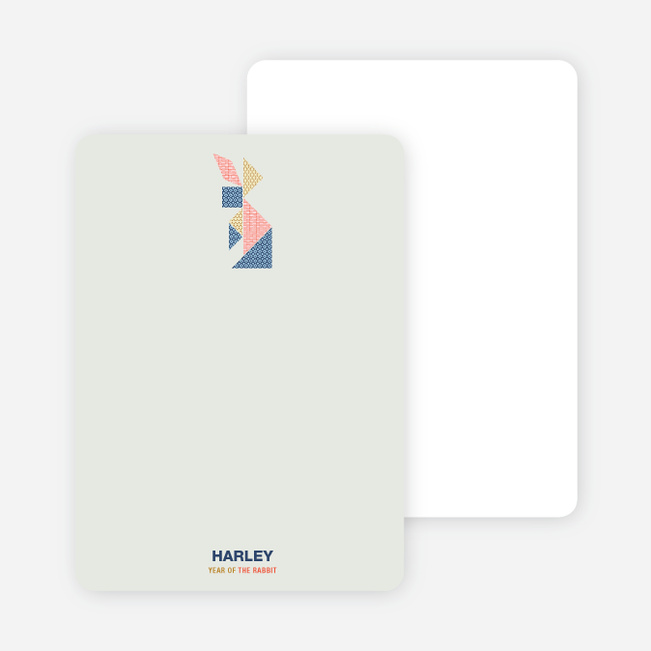Year of the Rabbit Tangram Themed Stationery - Multi