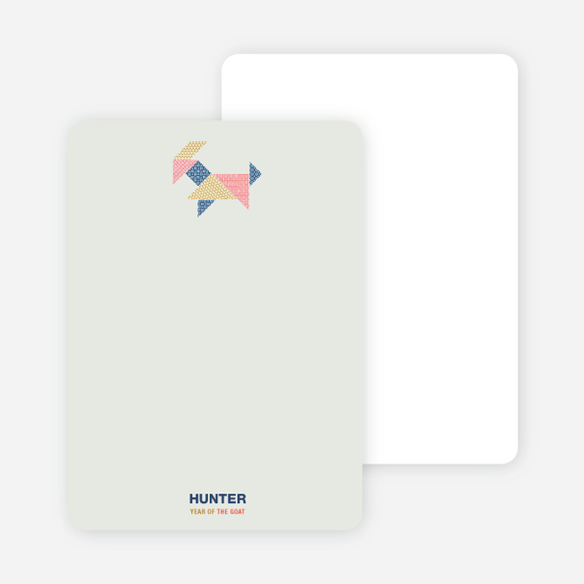 Year of the Ram Tangram Themed Personal Stationery - Multi