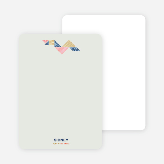 Year of the Snake Tangram Themed Stationery - Multi