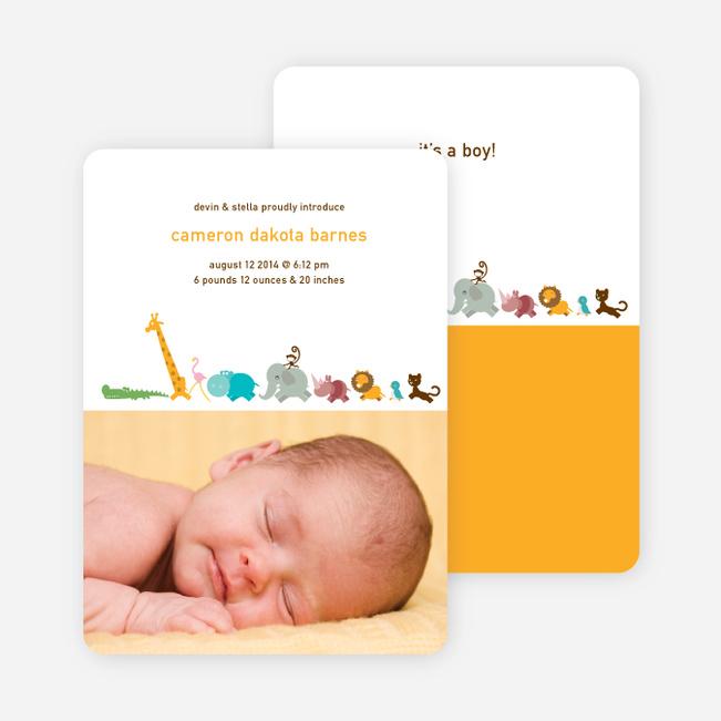 Zoo Animal Birth Announcements - Papaya
