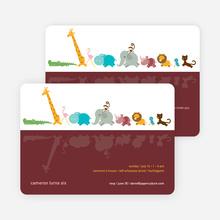 Zoo Parade Modern Birthday Invitation - Sangria