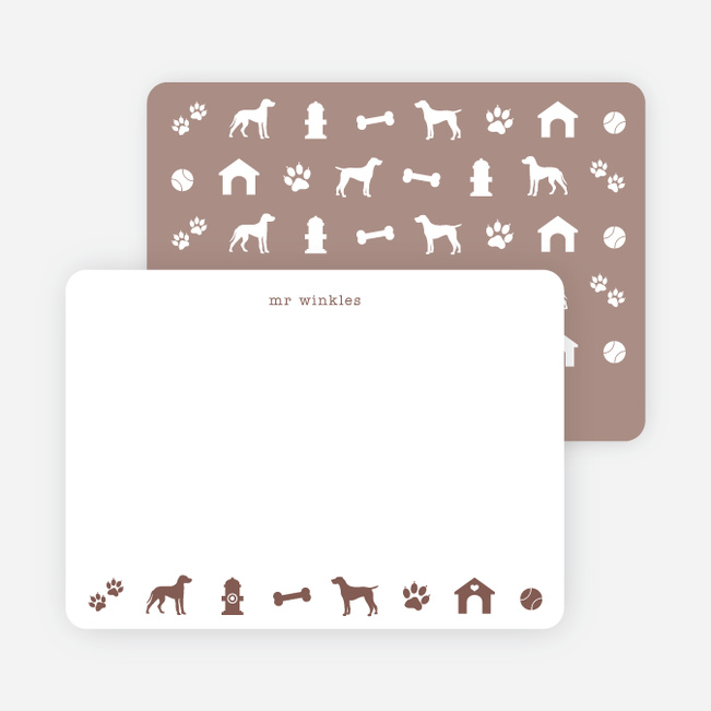 Adorable Dog Stationery - Brown