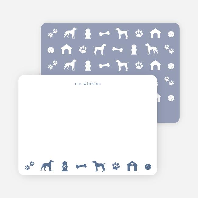 Adorable Dog Stationery - Blue