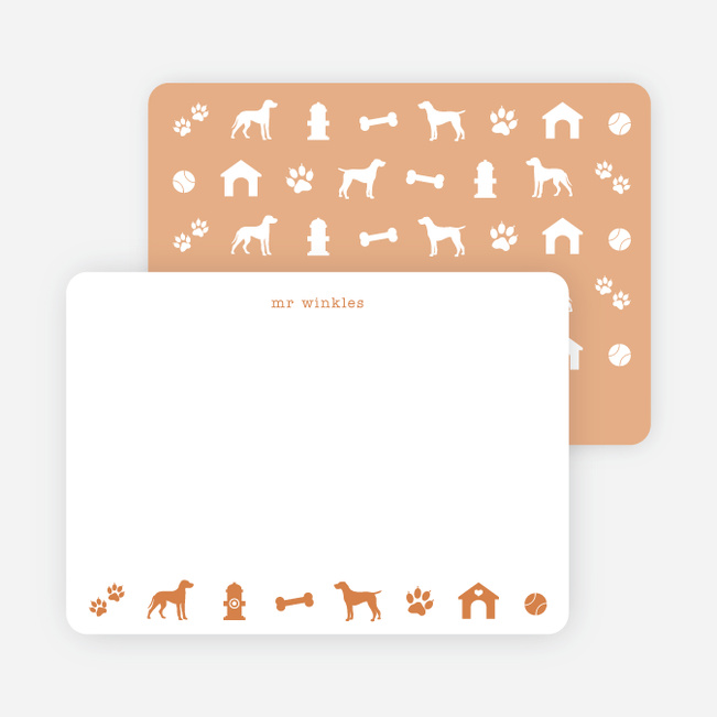 Adorable Dog Stationery - Orange