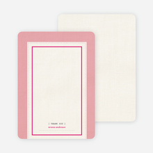 Baby Ticket Matching Thank You Cards - Bubble Gum
