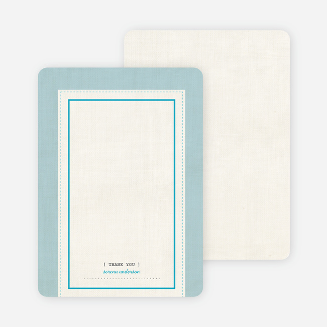 Baby Ticket Matching Thank You Cards - Glacier