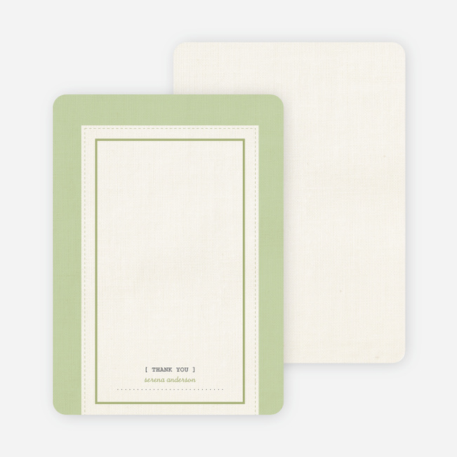 Baby Ticket Matching Thank You Cards - Lime Tree