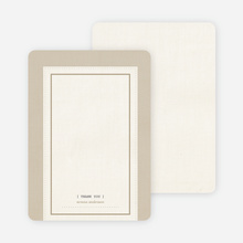Baby Ticket Matching Thank You Cards - Coffee Cream