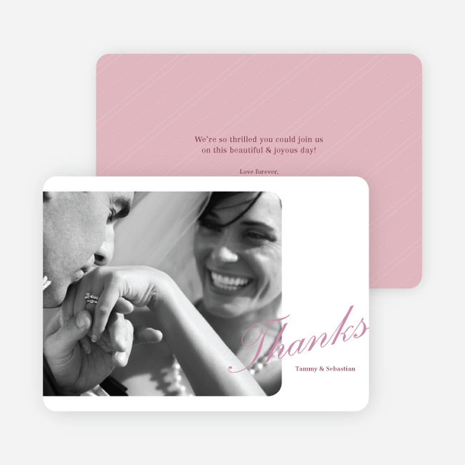 Classic Photo Thank You Cards - Pink