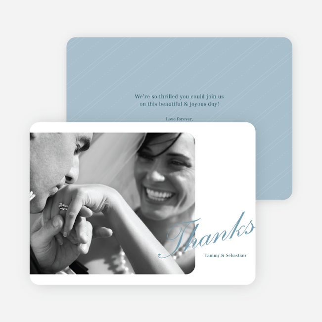 Classic Photo Thank You Cards - Blue
