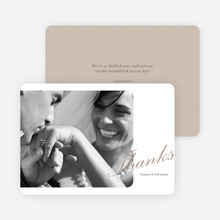 Classic Photo Thank You Cards - Beige