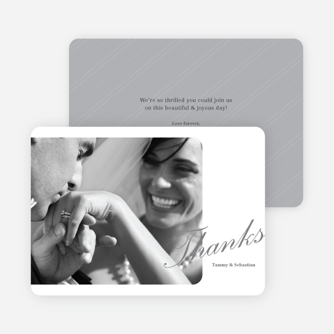 Classic Photo Thank You Cards - Gray
