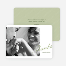 Classic Photo Thank You Cards - Green