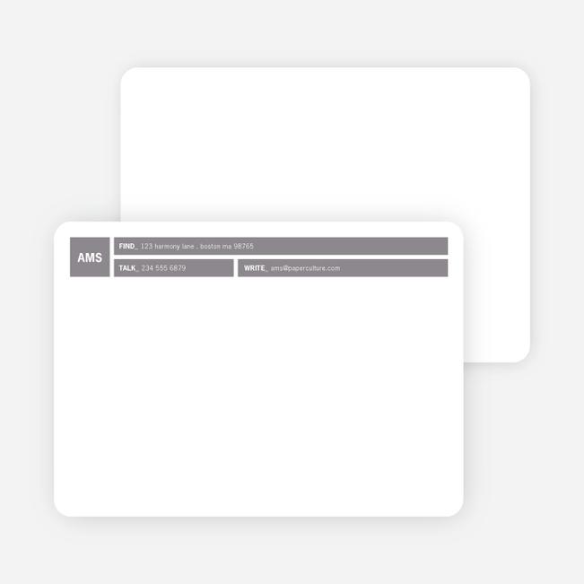 Colored Blocks Personal Stationery - Smoke Screen
