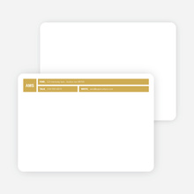 Colored Blocks Personal Stationery - Gold Bar