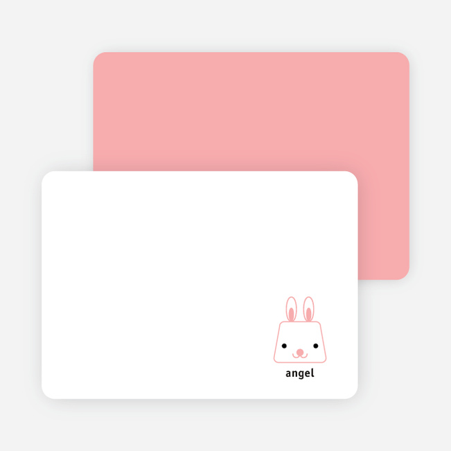 Little Baby Rabbit Stationery - White