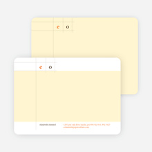 Modern Lines Note Cards for Both Professional and Personal Use - White Chocolate