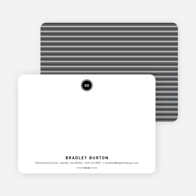 Modern Stationery: Simply Put on 100% Recycled Paper - Black