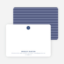 Modern Stationery: Simply Put on 100% Recycled Paper - Navy