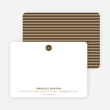 Modern Stationery: Simply Put on 100% Recycled Paper - Espresso
