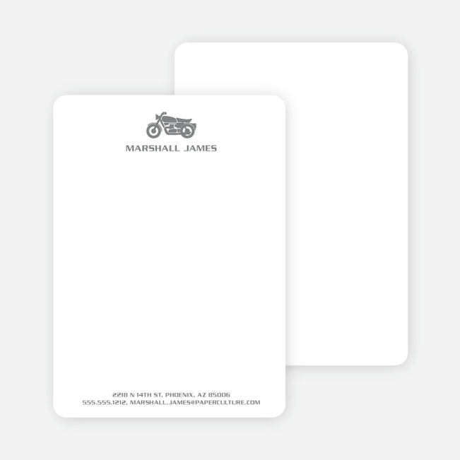 Motorcycle Personalized Stationery and Notecards - Mercury