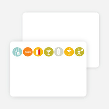 Note Cards: 'BBQ, Martinis and Dogs: Party Time!' cards. - Aquamarine