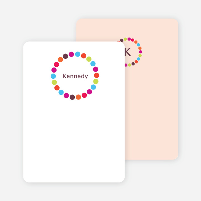 Note Cards: 'Circles' cards. - Multi