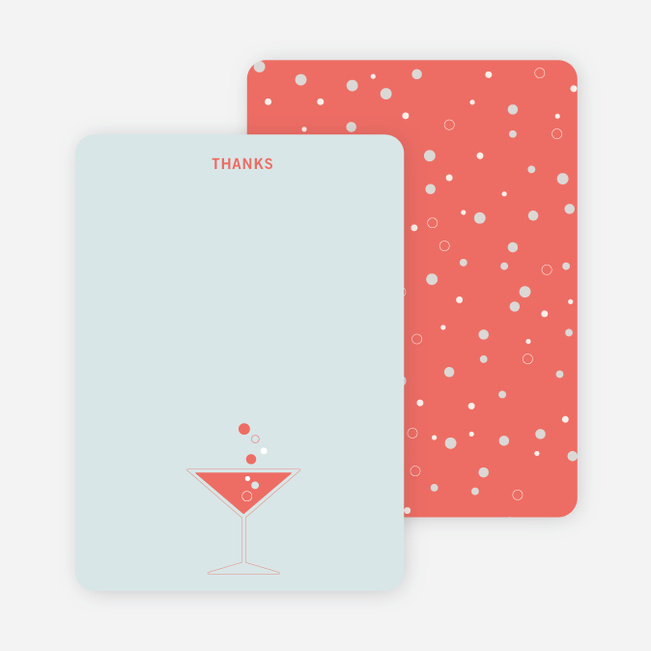 Note Cards: 'Cosmos Are Up' cards. - Coral