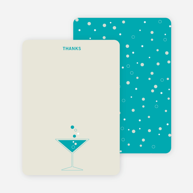 Note Cards: 'Cosmos Are Up' cards. - Turquoise