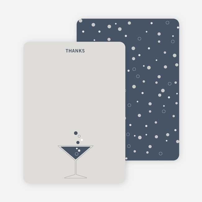 Note Cards: 'Cosmos Are Up' cards. - Slate Blue