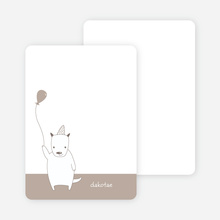 Note Cards: 'Dog Themed Photo Invitation' cards. - Sandy Beige