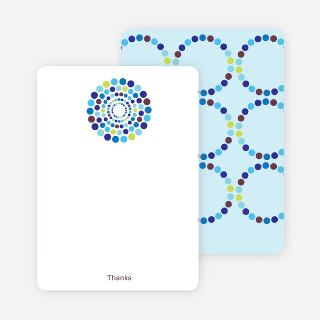 Note Cards: 'Dots Baby Shower Invitations' cards. - Rich Blue