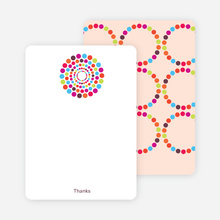 Note Cards: 'Dots Baby Shower Invitations' cards. - Multi