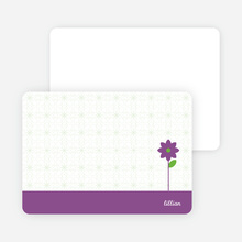 Note Cards: 'Modern Classic Flowers' cards. - Grape Gum