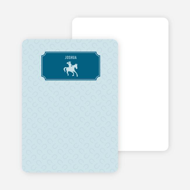 Note Cards: 'Ride 'Em Cowboy' cards. - Cadet Blue